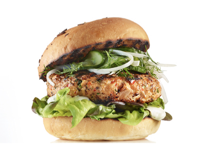 Smoky Ontario trout burgers