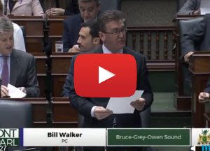 MPP Bill Walker touts trout farming at Queen's Park